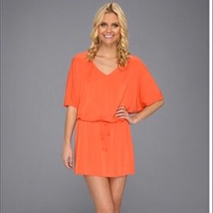 Michael Stars Dolman Sleeve V Neck Mini Dress